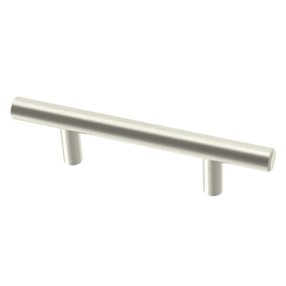 Essentials 3 in. (76 mm) Satin Nickel Steel Bar Cabinet Drawer