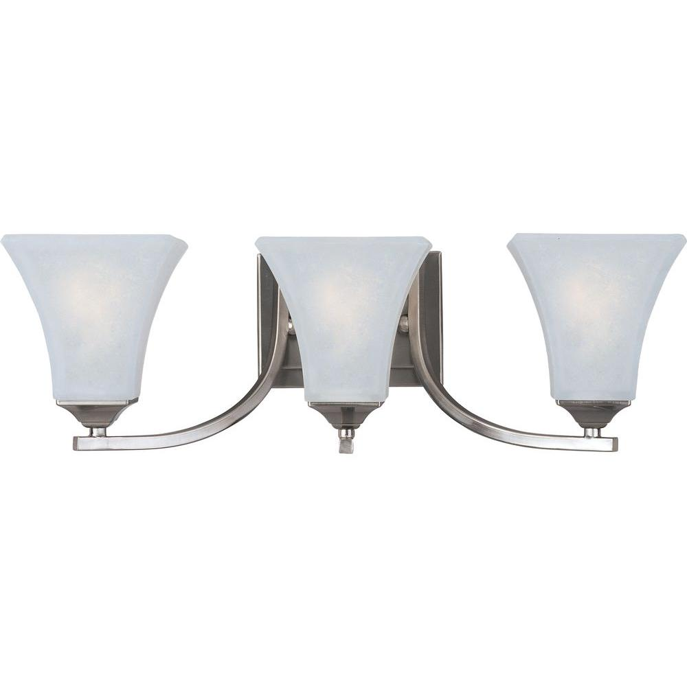 Maxim Lighting Aurora 3-Light Satin Nickel Bath Vanity Light