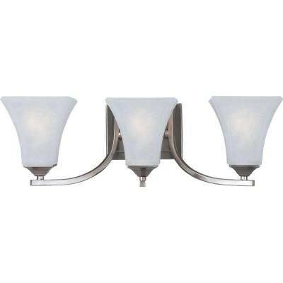 Aurora 3-Light Satin Nickel Bath Vanity Light