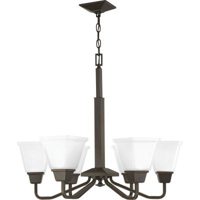 Clifton Heights 6-Light Antique Bronze Chandelier with Shade