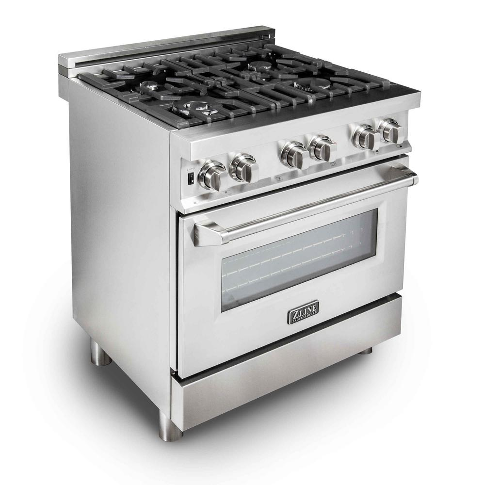 Zline Kitchen And Bath Professional 30 In 4 0 Cu Ft Gas Range