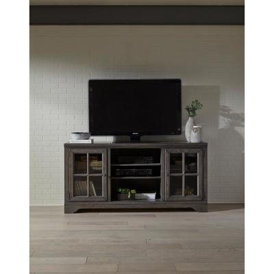 Dillworth 66 in. Storm Wood TV Stand Fits TVs Up to 70 in. with Storage Doors
