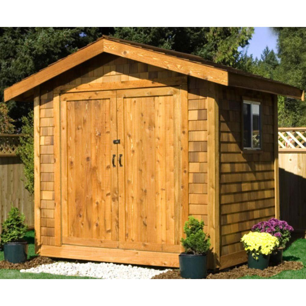Premium Cedar Shed 16 ft. x 10 ft. Wood Premium Shingle Siding Shed Kit