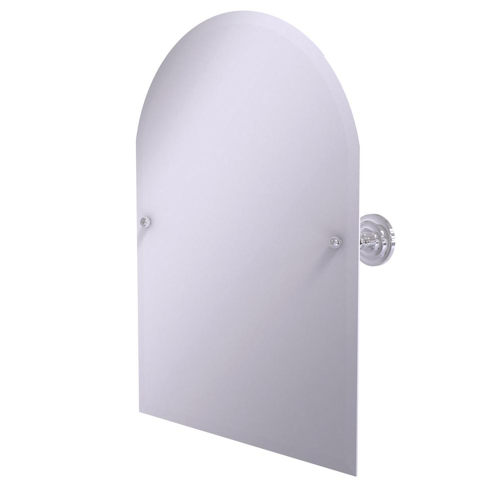 Prestige Que New Frameless Arched Top Tilt Mirror with Beveled Edge