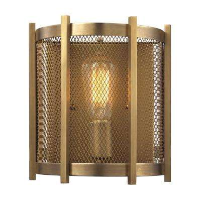 Rialto 1-Light Aged Brass Wall Sconce