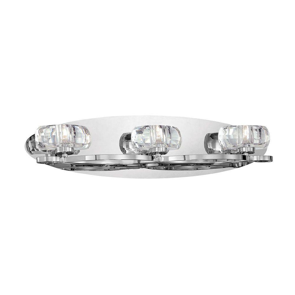 Buca Collection 3-Light Chrome and Clear Bath Light
