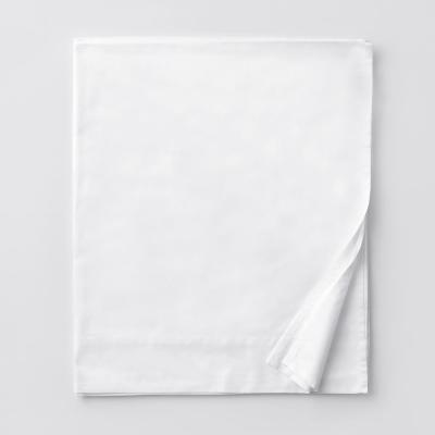 Legends Luxury Solid White 500 Thread Count Cotton Sateen King Flat Sheet