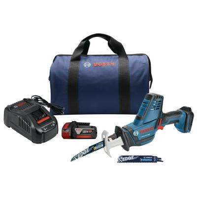 18-Volt Lithium-Ion Cordless Electric Variable Speed Compact Reciprocating Saw Kit with 4.0 Ah FatPack Battery