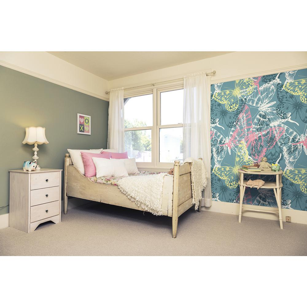 118 in. x 98 in. Flutter Wall Mural