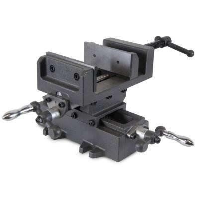 8.25 in. Compound Cross Slide Industrial Strength Benchtop and Drill Press Vise