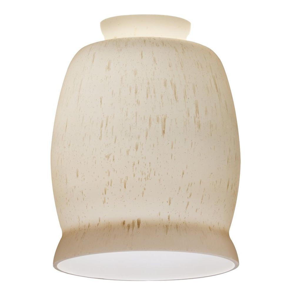 Beige Rain Drop Pattern Glass Shade for LED Mini Pendant