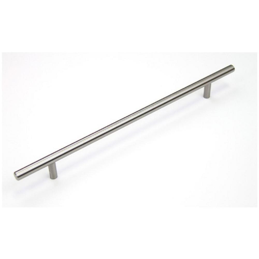 Euro 8-5/8 in. (219 mm) Center-to-Center Solid Stainless Steel Drawer Pull Cabinet Handle (25-Pack)
