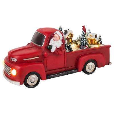 5 in. H x 11.1 in. W Tall Animated Red Truck