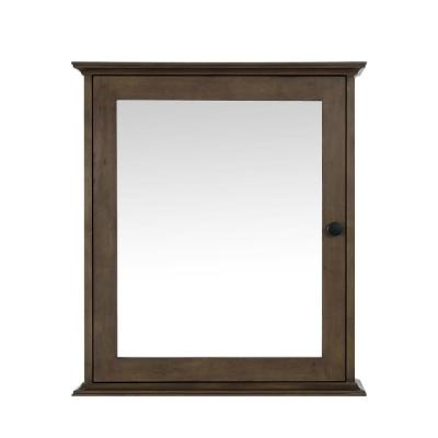 Sonoma 24 in. x 27 in. Surface Mount Medicine Cabinet in Almond Latte