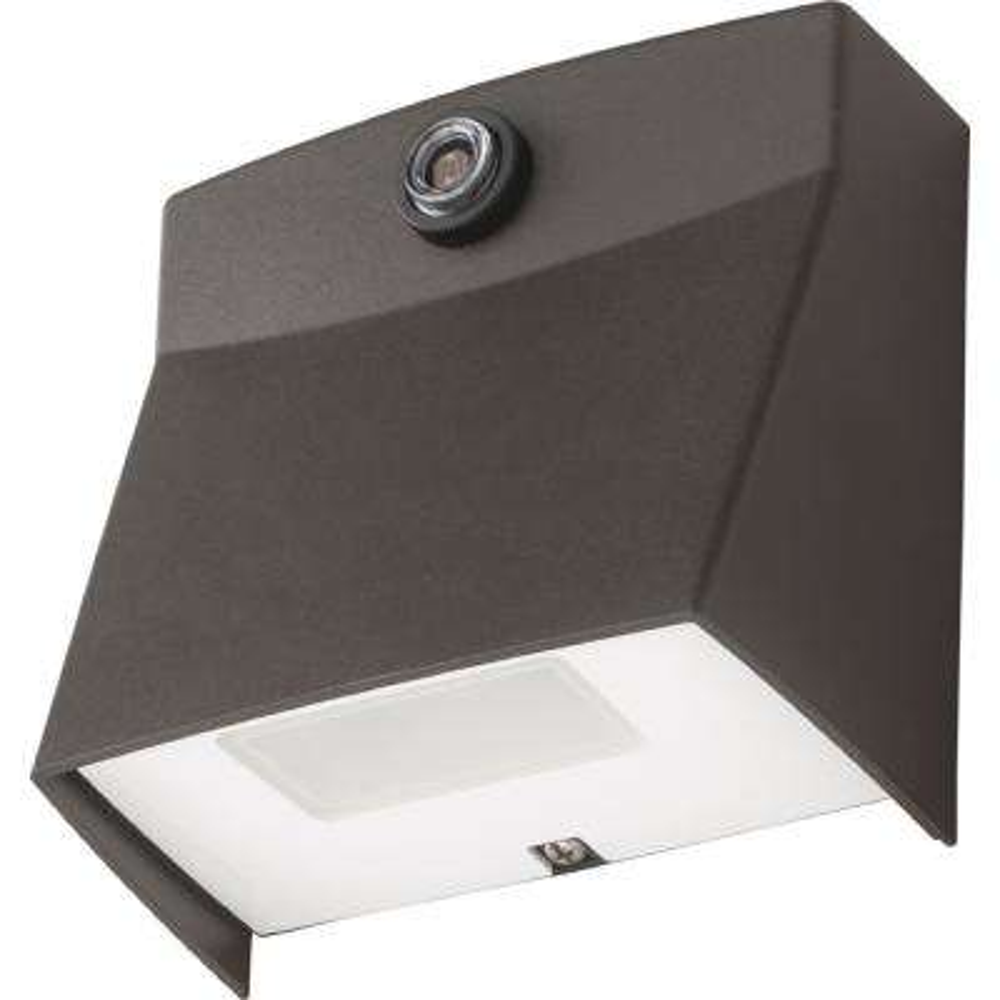 LIL 8.4-Watt Bronze Outdoor Integrated LED Wall Pack Light