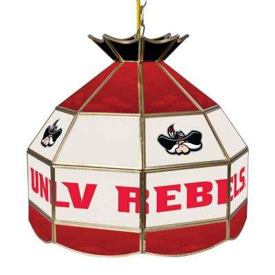 UNLV 16 in. Gold Hanging Tiffany Style Billiard Lamp