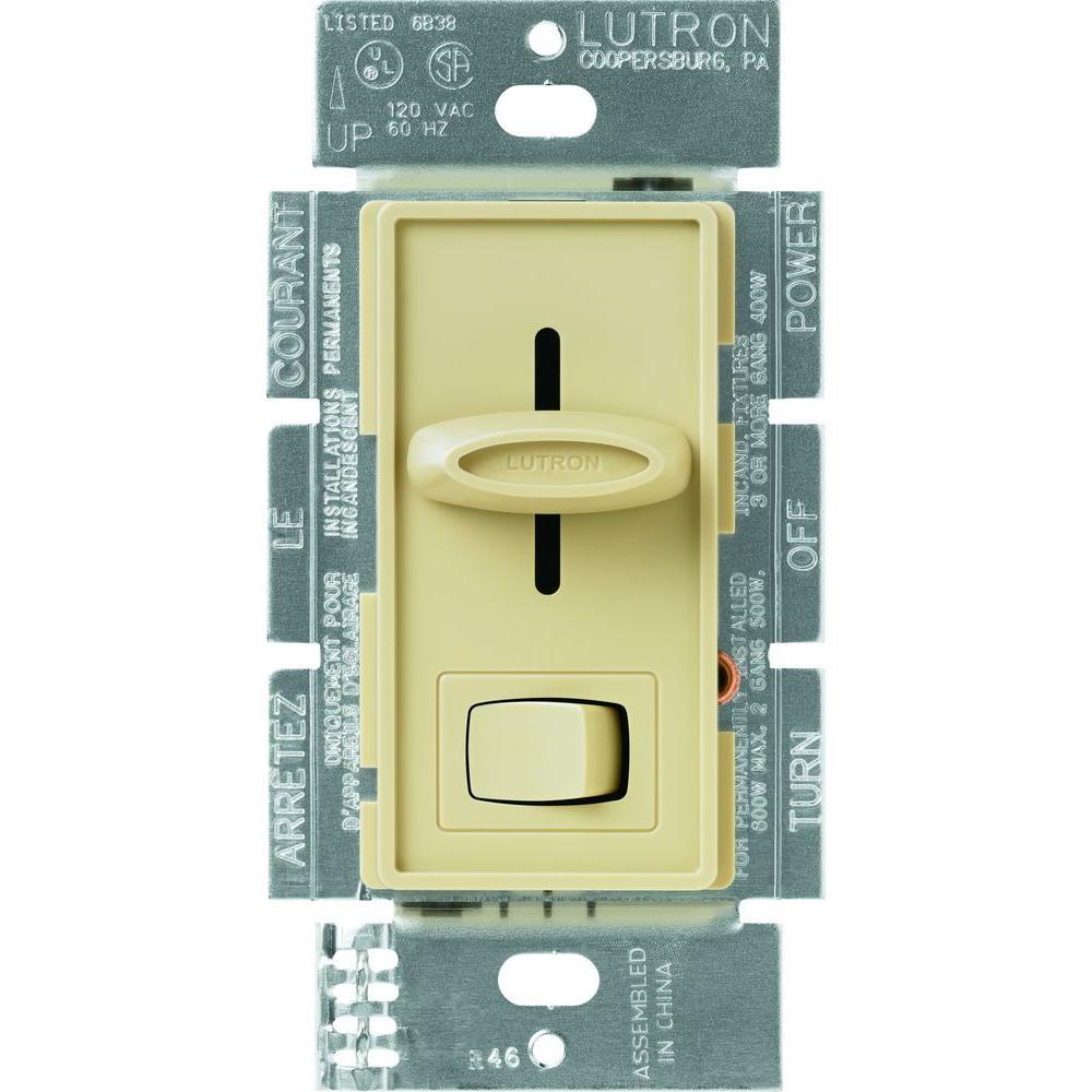 Dimmer Switch Bathroom Fan: Lutron Skylark 1.5 Amp Single-Pole 3-Speed Slide-to-Off