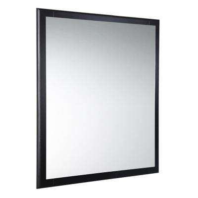 Oxford 26 in. W x 32 in. H Framed Wall Mirror in Espresso