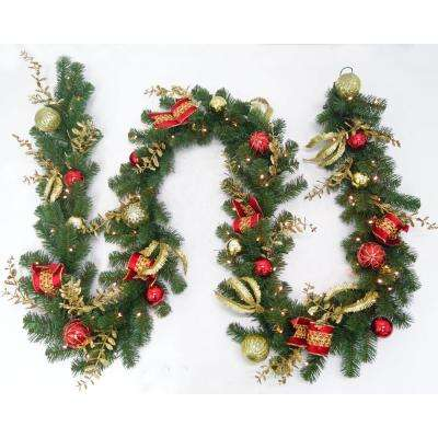 12 ft. - Battery Operated - Christmas Garland - Christmas Greenery - The Home