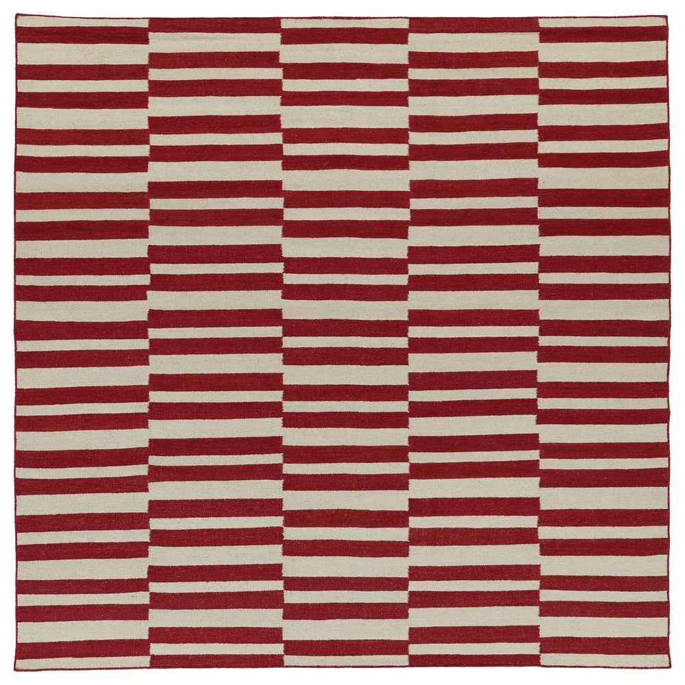 Kaleen Nomad Red 8 ft. x 8 ft. Square Area Rug