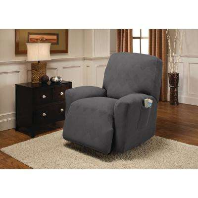 Grey Optic Recliner Stretch Slipcover
