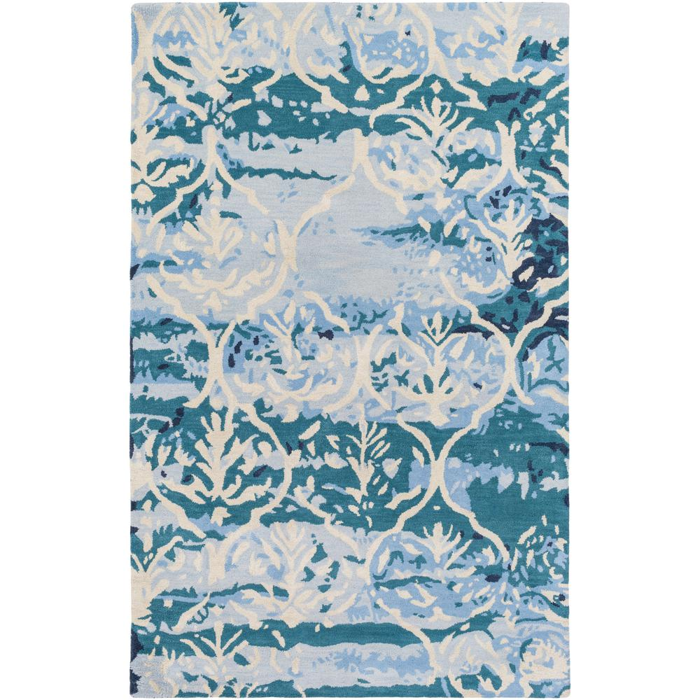 Pacific Holly Teal 5 ft. x 8 ft. Indoor Area Rug