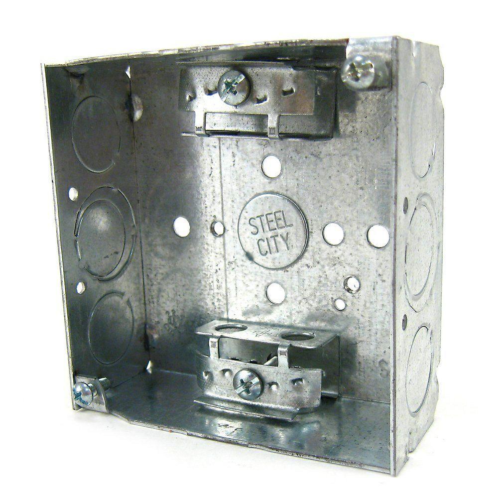 4 in. 21 cu. in. Steel Square Box (Case of 30)