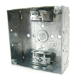 2-Gang 4 in. 21 cu. in. New Work Metal Square Electrical Box (Case of 30)
