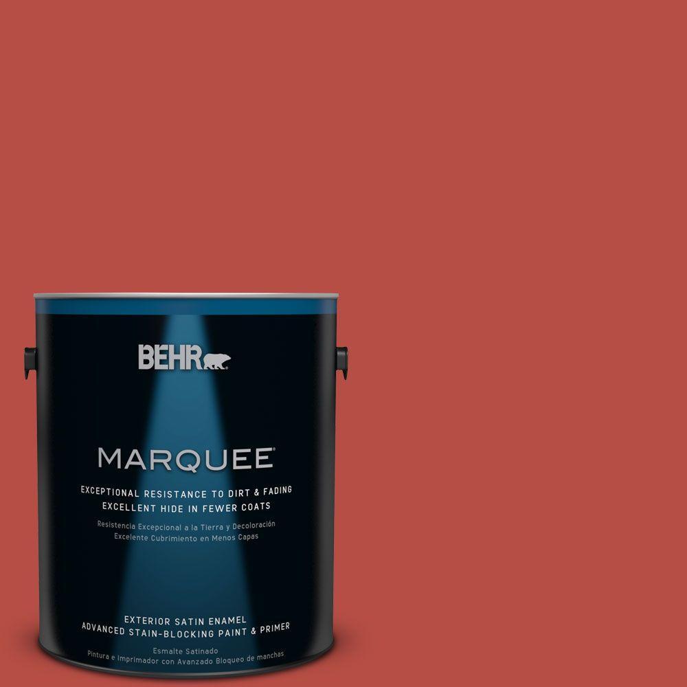 1-gal. #M160-7 Raging Bull Satin Enamel Exterior Paint