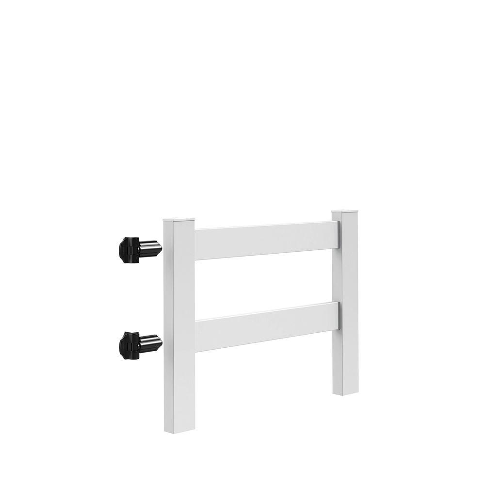 2-Rail Post and Rail 4 ft. x 3 ft. White Vinyl