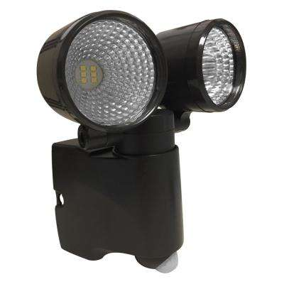 Battery Operated Bronze LED Dual Head Mega Bright Spotlight With Motion Sensor