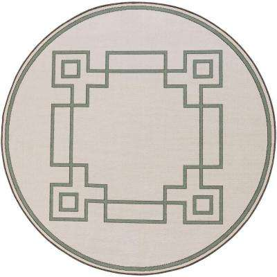 Blanche Beige 7 ft. x 7 ft. Round Indoor/Outdoor Area Rug