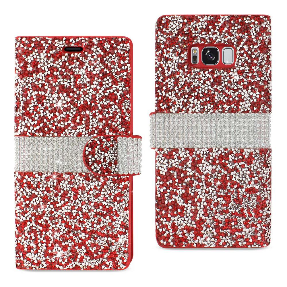 Galaxy S8 Edge Rhinestone Case in Red