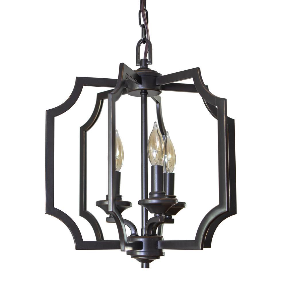 Decor Therapy Stevenson 3-Light Antique Bronze Chandelier