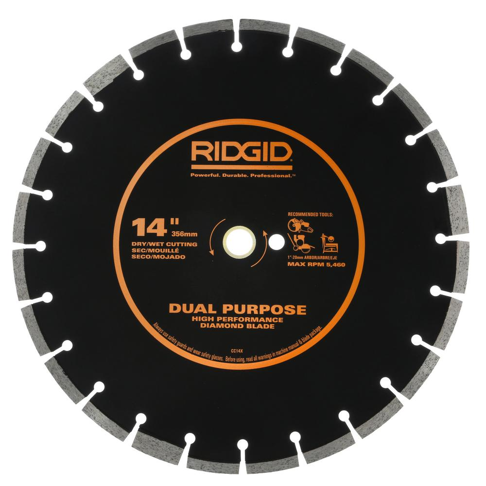 14 in. Dual-Purpose Walk-Behind Saw Diamond Blade