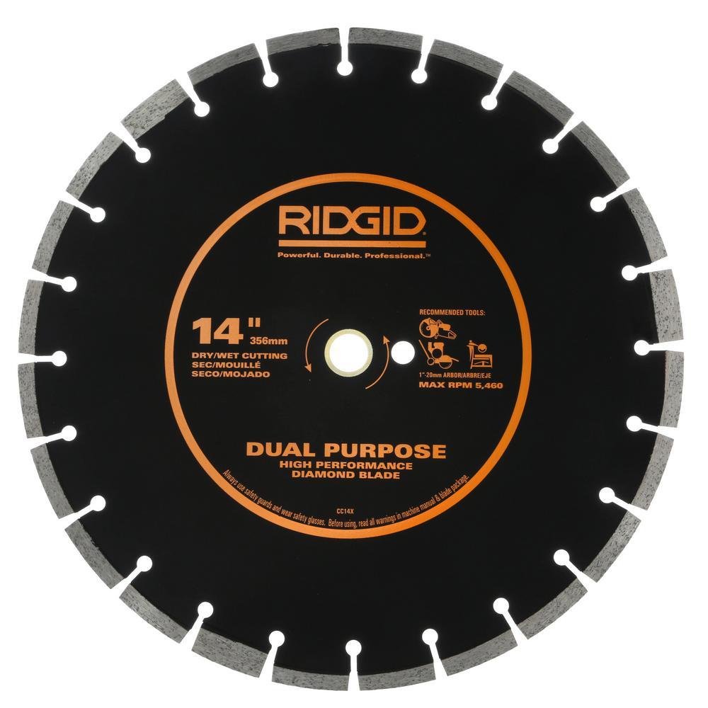 14 in. Dual-Purpose Walk-Behind Saw Diamond Blade