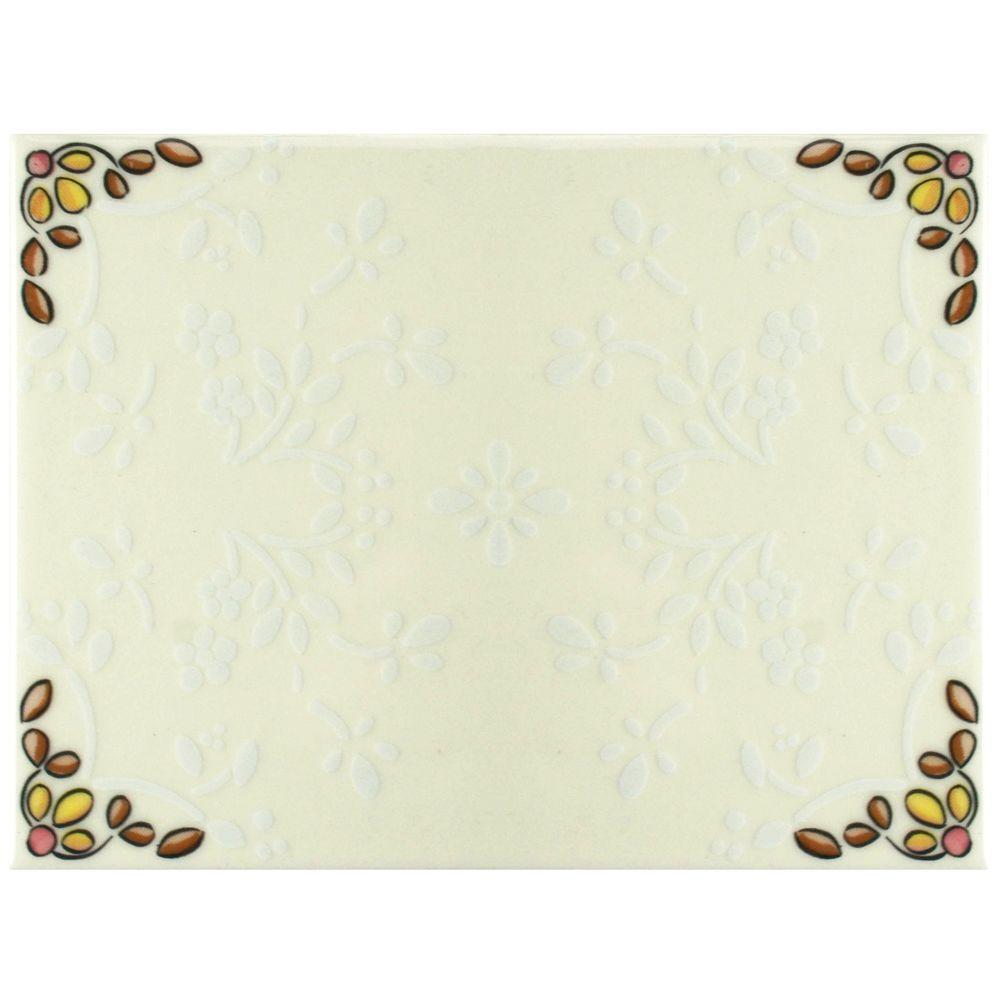 Merola Tile Galan Melado 6 in. x 8 in. Ceramic Wall Tile (11 sq. ft. / case)