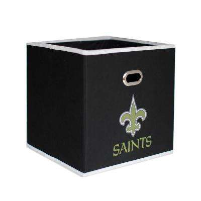 New Orleans Saints NFL Store-Its 10-1/2 in. W x 10-1/2 in. H x 11 in. D Black Fabric Drawer