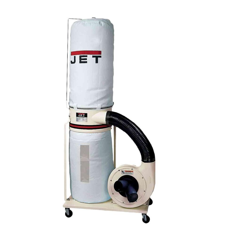 JET 1.5 HP 1100 CFM 4 or 6 in. Dust Collector with Vortex Cone and 30-Micron Bag Filter Kit, 115/230-Volt, DC-1100VX-BK