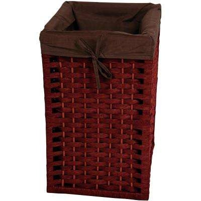 Mahogany Natural Fiber Basket Trunk