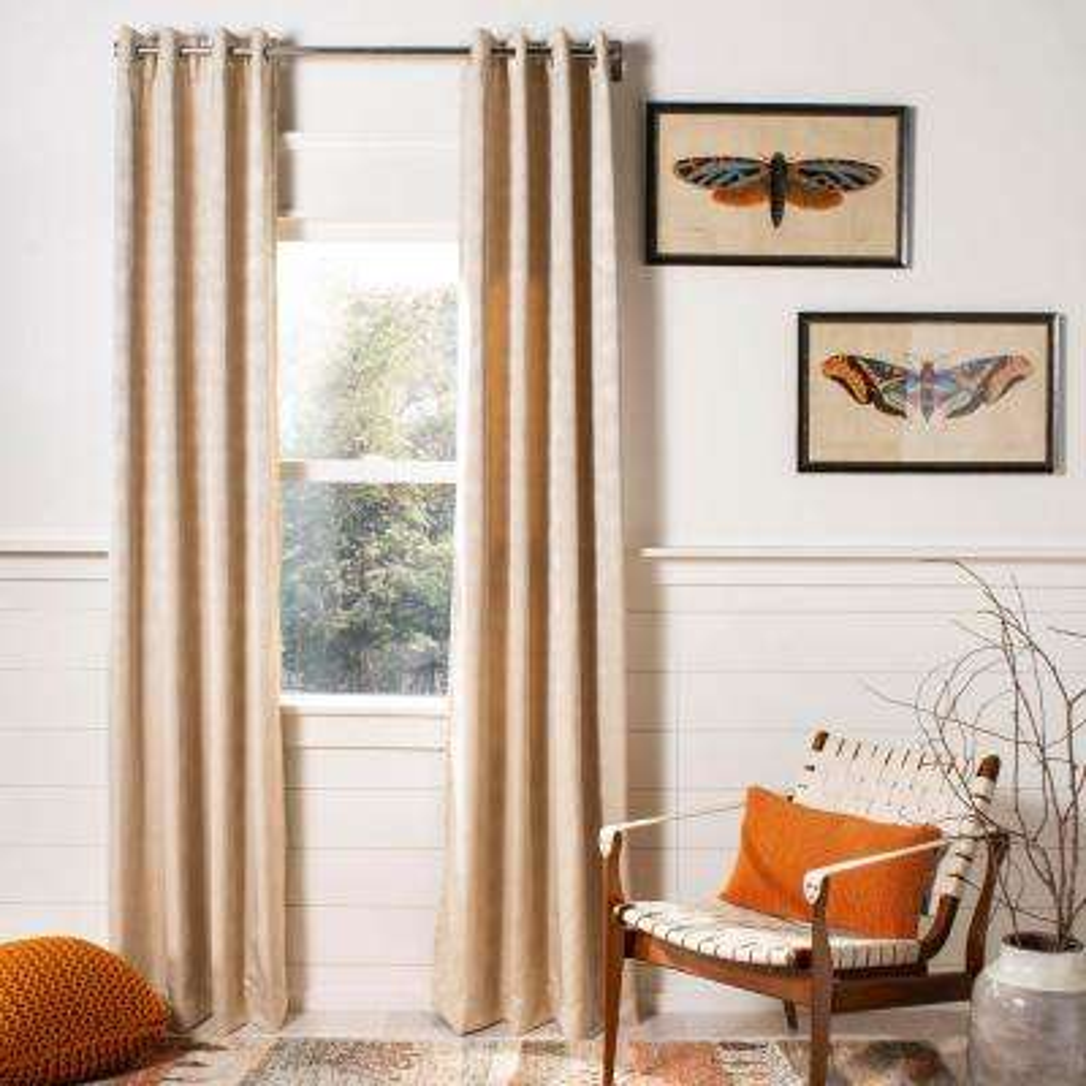 Melra Window Panel in Beige - 52 in. W x 96 in. L