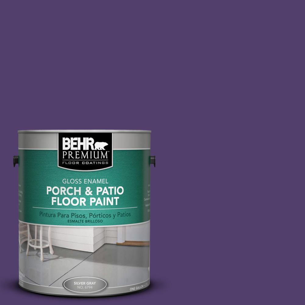 1 gal. #P570-7 Proper Purple Gloss Interior/Exterior Porch and Patio Floor Paint