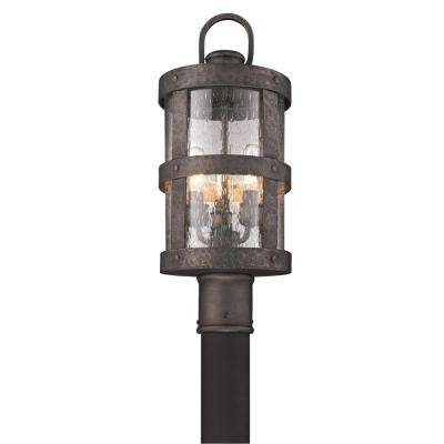 Barbosa 3-Light Outdoor Barbosa Bronze Post Light