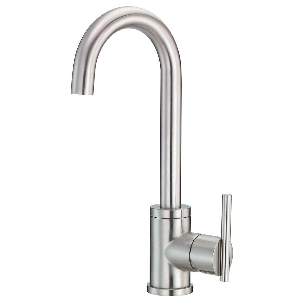 Danze Parma Single Handle Bar Faucet With Side Mount Handles In Stainless  Steel