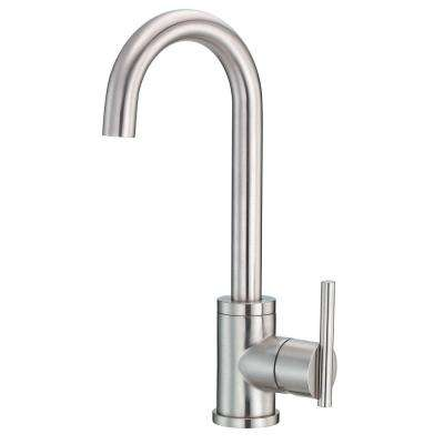 Parma Single-Handle Bar Faucet with Side Mount Handles in Stainless Steel