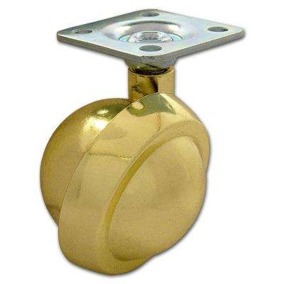 2-5/32 in. Brass Caster with 75 lbs. Load Rating