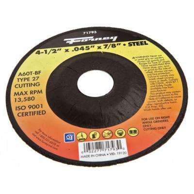 4-1/2 in. x 0.045 in. x 7/8 in. Metal Type 27 Cut-Off Wheel