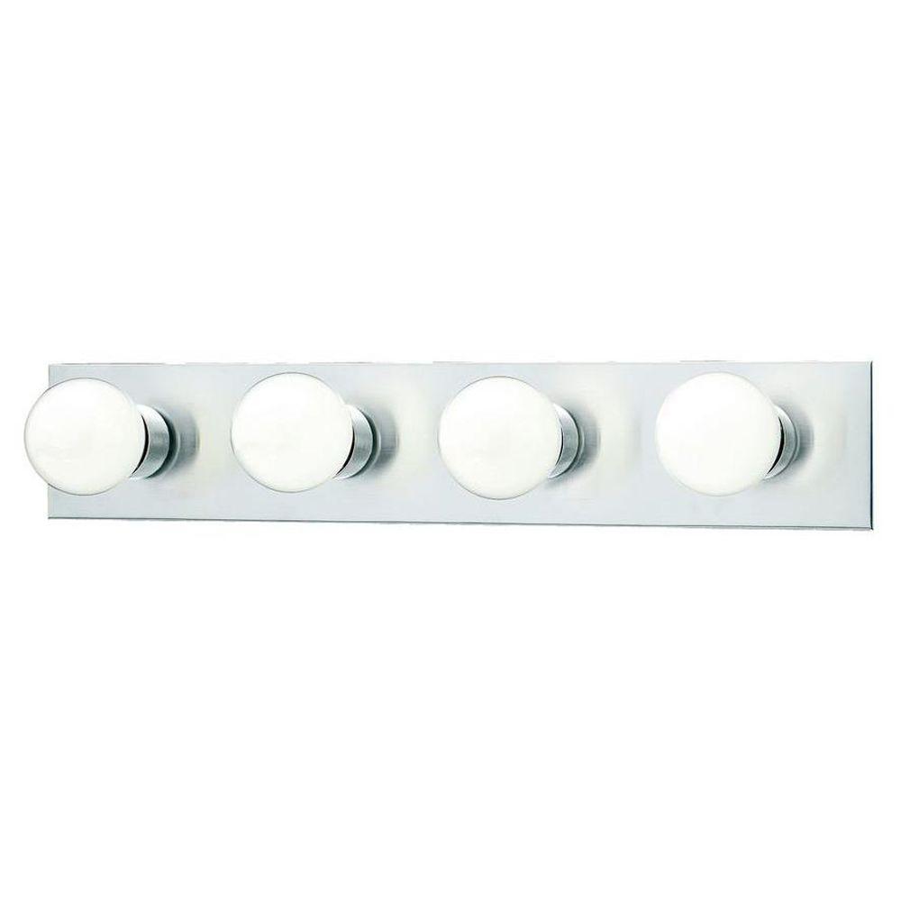 4-Light Brushed Nickel Wall Vanity Light