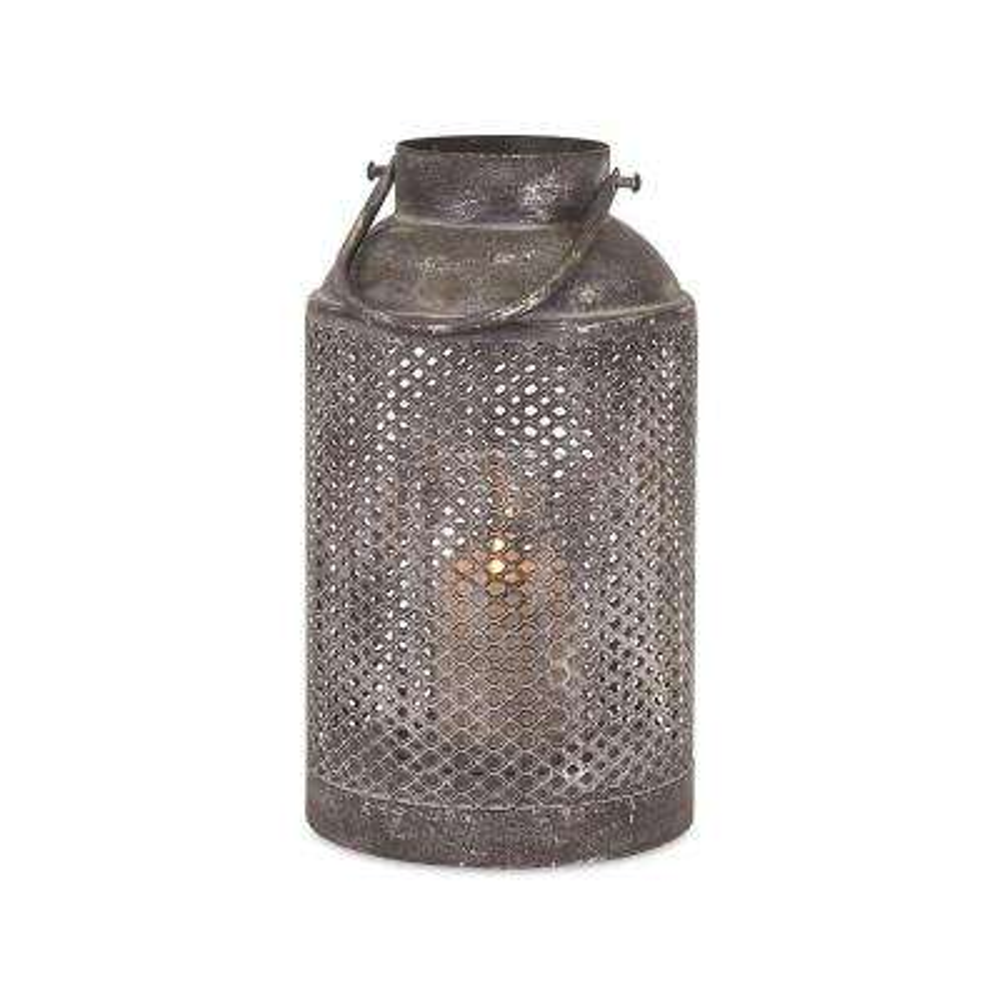 Homestead 7.5 in. Antiqued Silver Metal Lantern