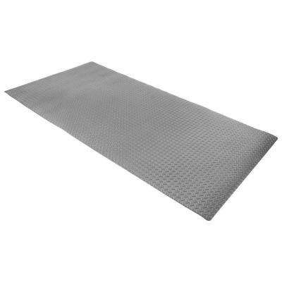 Large 93 in. x 46 in. Gray Exercise Machine Floor Gym Mat